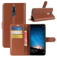 Cover Wallet Premium Brown For Huawei Mate 10 Lite Case Cover Pouch Protective
