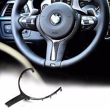 CARBON FIBER M-SPORT STEERING WHEEL TRIM -FOR BMW F22/F30/F32/F06/F12/F13/F15 X5