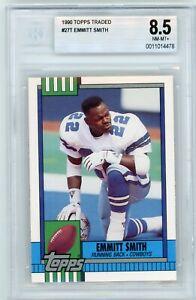 EMMITT SMITH 1990 Topps Traded #27T Dallas Cowboys Rookie RC BGS 8.5 NM-MT+