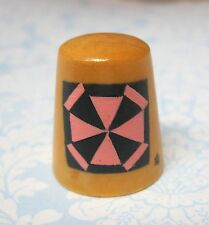 Hand Painted Signed Numbered Thimble Spider Web Quilting Block Pattern SHP