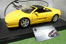 FERRARI F355 GTS 1994 cabriolet jaune au 1/18 HOT WHEELS 23921 voiture miniature