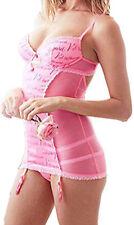 V.S. TIS The Secret Pink Lace & Mesh Slip Lingerie 36 D