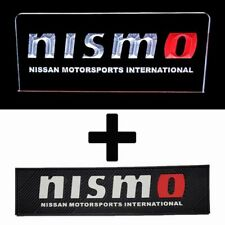 NISMO RED O COMBO PACK - ACRYLIC LED SIGN + RUBBER BAR MAT RUNNER PVC BARMAT ...