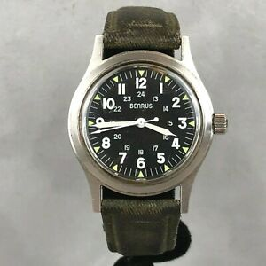 Vintage Benrus MIL-W-46374 24 Hour Military Field Mechanical Men's D-Day Watch