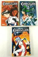 Lot de 3 Mangas VF  Neon Genesis Evangelion Tomes 1 a 3  Glenat  Envoi suivi