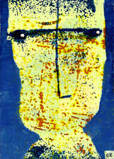 frequently thoughts come to me in the voices of... e9Art ACEO Outsider Art Paint