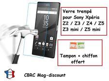 VITRE protection film en VERRE TREMPE pour Sony Xpéria Z2 Z3 Z4 Z5