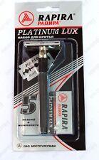 RAPIRA DOUBLE EDGE CLASSIC SAFETY RAZOR + 5 blades RAPIRA PLATINUM LUX