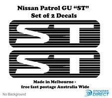 Nissan GU Patrol ST Sticker Set of 2 Outdoor Grade Premium Decals 4WD