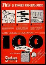 1950 Seeburg model A M100A jukebox & wallbox photo vintage trade print ad 8