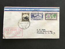 NEW ZEALAND 1941 FIRST FLIGHT COVER AUCKLAND TO FIJI SUVA BACKSTAMP