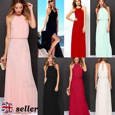 Unbranded Chiffon Full Length Halterneck Dresses for Women