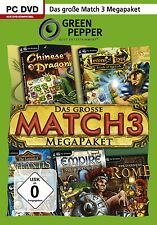 Das große Match 3-Megapaket - PC Game - *NEU*