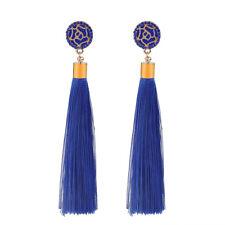 2Pc Tassel Earrings Boho Bohemian Long Exaggerated Rose Flower Dangling Earrings