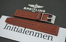 Breitling PRO DIVER 1 brown STRAP 128S 20/18 + STEEL BUCKLE 100% ORIGINAL RUBBER