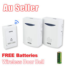 38 Melodies Battery Wireless Doorbell Door Bell Sync 2 Receiver 100m Range