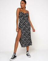 MOTEL ROCKS Cypress Midi Dress in 90's Daisy Black/White       (mr13)