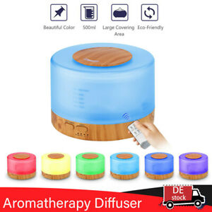 500ML Ultraschall Luftbefeuchter Aroma Diffuser Diffusor Humidifier 7 LED Licht