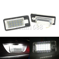 2x CAN-bus White Error Free LED License Plate Light  For Audi A3 A4 A6 S6 A8 Q7