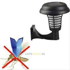 Solar Powered Uv Garden Lawn Led Light Mosquito Insect Pest Bug Zapper Killer #L