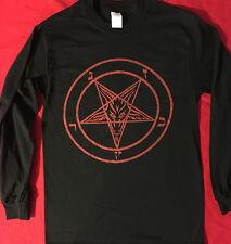 PENTAGRAM Small Long Sleeve T SHIRT satanic gothic horror metal FREE SHIPPING