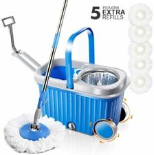 Masthome Mop and Bucket Sets with 5PCS Replacement Microfiber Mop Heads Stainles