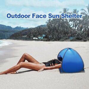 Summer Beach Umbrella Outdoor Face Tent Portable Head Sun Protection Shelter