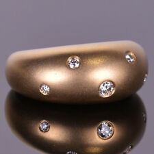 Diamond Bubbles Collection Ring set in 14k Yellow Gold