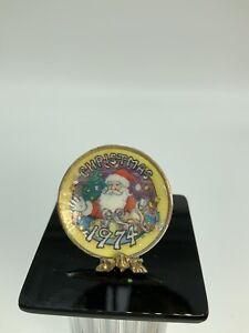 Dollhouse Miniature Artisan Signed Ellen Kruker Blauer Christmas Plate 1974