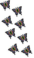 30 x Multicoloured Rainbow Butterfly Pack Car Van wall Stickers Decals Girls