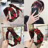 Womens Flower Headband Twist Hairband Bow Knot Cross Tie Headwrap Hair Band Hoop