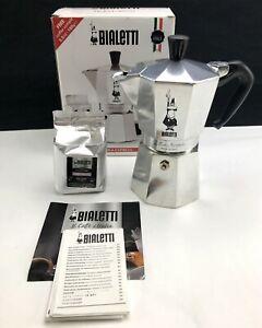 Bialetti Moka 3.5oz Express Percolator Italian Coffee Espresso Cappuccino Maker