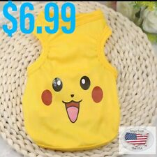 Pikachu Fashion Extra Small (XS)Shirt For Dog Cat Pet Puppies - Size Extra Small