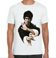 Tee-shirt  blanc Bruce Lee art martial tailles aux choix