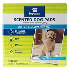 Brand New 150 of Top Paw Premium Scented Puppy Dog Training Pads Cotton Blossom