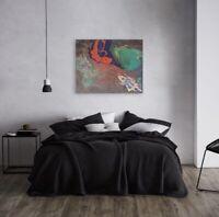 "ORIGINAL 24""x30"" Acrylic abstract painting on Canvas Orange Crush Fluid Art Pour"