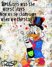 Original CRISP Limited Signed Money Uncle Scrooge Canvas Pop art