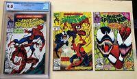 AMAZING SPIDER-MAN #361 Comic CGC 9.0 Marvel 1ST APPEARANCE CARNAGE + #362 363