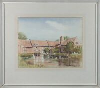 Audrey Vaulkhard - Signed & Framed 1975 Watercolour, Quiet Village