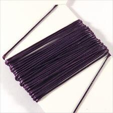Cordon Coton Ciré 0,5mm – 5 Mètres Violet pour Colliers et Bracelets de perles