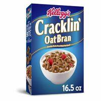 10 Boxes - Kellogg's Cracklin Whole Grain Breakfast Cereal, Oat Bran Snack 16 Oz