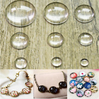 Lot! Flatback Clear Glass Round Domed Cabochon 10/12/20/25/30MM DIY Craft
