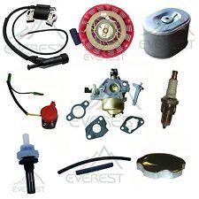 For Honda GX240 GX270 Recoil Carburetor Ignition Coil Spark Plug Air Filter Gas