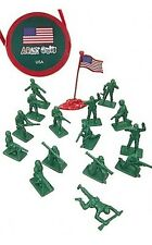 Toy Soldiers WWII US Army Infantry Set 17 Plastic Figures Tube Package 1/32