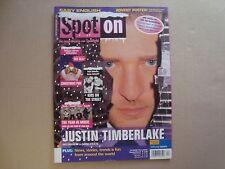 Justin Timberlake rare Spot On import cover magazine