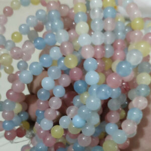 """Natural 6mm agate Color  gemstone round loose bead 15 """"AAA"""