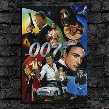 Oil Painting HD Print Wall Decor Art on Canvas TV 007 James Bond 24x36inch