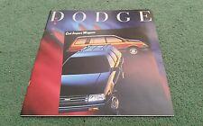 DODGE COLT WAGONS VISTA DL 1989 USA BROCHURE Mitsubishi Spacewagon Lancer Estate