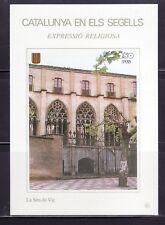 CATALUÑA EN SELLOS HOJA BLOQUE Nº 91 EXPRESIÓN RELIGIOSA/SEU DE VIC