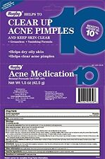 3 Pack - Benzoyl Peroxide 10% Generic Oxy Balance Acne Medication Gel 1.5oz Each